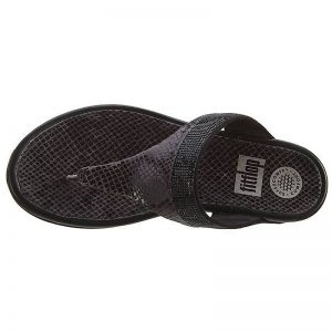 FITFLOP BANDA CRYSTAL IMI SNAKE UK4 – BLACK