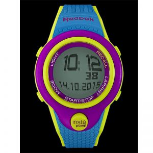 REEBOK INSTA PUMP CHORONOGRAPH SPORTS WATCH – BLUE (NEED NEW BATTERY)