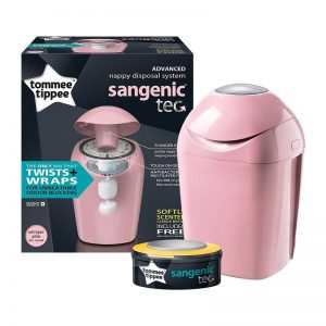 TOMMEE TIPPIE Sangenic Tec Nappy Disposal Tub – Pink