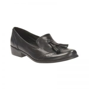 Clark Shoe 'Anchor' black leather, Size 4