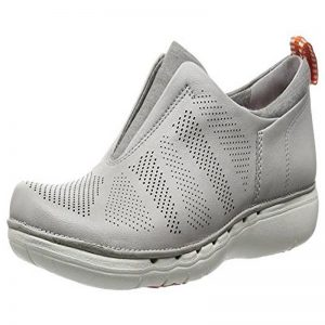 CLARKS UN SPIRIT LIGHT GREY LEATHER – UK4 D