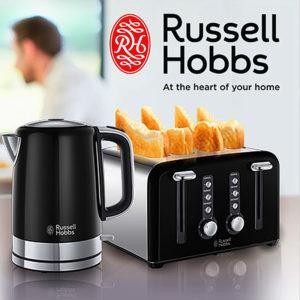 RUSSELL HOBBS WINDSOR Kettle & Toaster Set – Black
