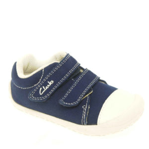 CLARKS Little Chap Navy SIZE UK2G