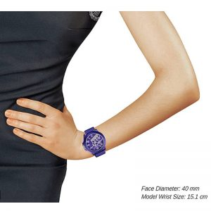 JUICY COUTURE Fergie Silicone Watch – Purple