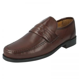 CLARKS Bezel Edge Brown Leather Wide Fit – UK7