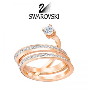 SWAROVSKI Fresh Ring Medium White Rose Gold Plating 5257530 (Size 50)