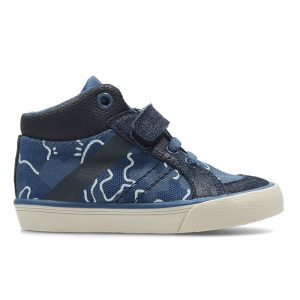 CLARKS JUGGLE FUN FST NAVY TEXTILE – UK4G