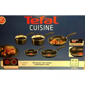 TEFAL Cuisine Riverted Non-Stick Cookware Set – 5 Piece