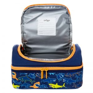 SMIGGLE Tropi-Cool Double Decker Lunchbox – Navy