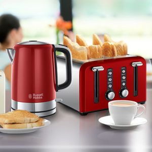 RUSSELL HOBBS Windsor Toaster and Kettle Set – RED