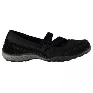 SKECHERS Relaxed Fit Breathe Easy Shoes Ladies Black UK5.5