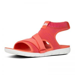 FITFLOP ÜBERKNIT Back-Strap Sandals Coral Fuchsia UK 5 / EU 38