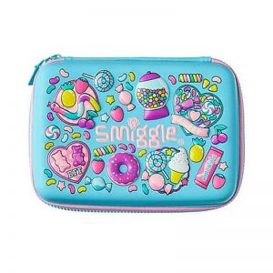 SMIGGLE Hello Scented Hardtop Pencil Case – Blue