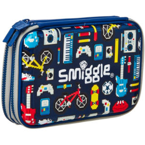 SMIGGLE Stylin' Double Up Hardtop Pencil Case Colour : Navy