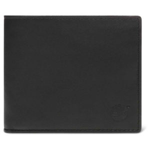 TIMBERLAND Bifold Leather Wallet With Coin – Black