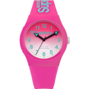 SUPERDRY Women's Analogue Quartz Watch with Silicone Strap – Pink SYL198PN