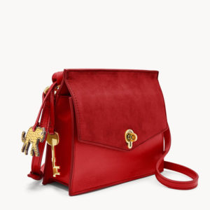 FOSSIL Stevie Small Crossbody Red