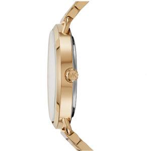 MICHEAL KORS Portia Gold Tone Crystallized Watch MK3639