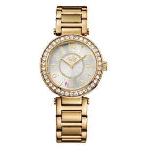 JUICY COUTURE Luxe Gold Tone Bangle Watch