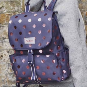 CATH KIDSTON Button Spot Buckle Backpack Navy
