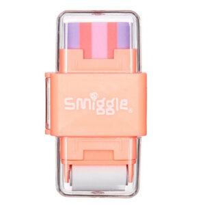SMIGGLE Sharp Again Roll Eraser & Sharpener Color Coral