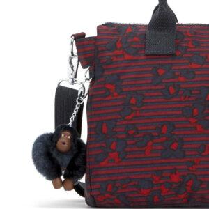 KIPLING IRISA Medium Handbag with Removable Shoulder Strap – Stripy Floral