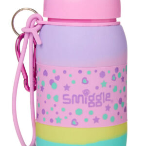 SMIGGLE Super Silicone Roll Drink Bottle Colour : Pink