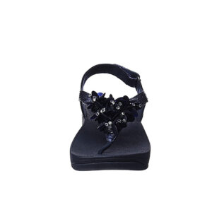 FITFLOP BOOGALOO Leather Back-Strap Sandals – Midnight Navy  Size UK 7