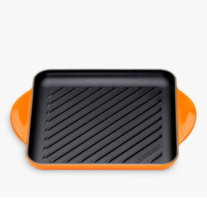 LE CREUSET Cast Iron 24cm Skinny Square Grill, Volcanic