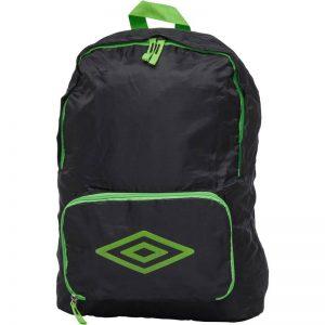 UMBRO Packaway Diamond Logo Backpack Black – Black/Bright Green