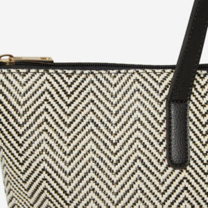 DOROTHY PERKINS Black And White Beach Shopper Bag