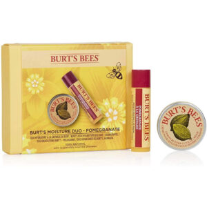 BURT'S BEES Natural Moisture Duo 2 Piece Moisturising Gift Set – Pomegranate