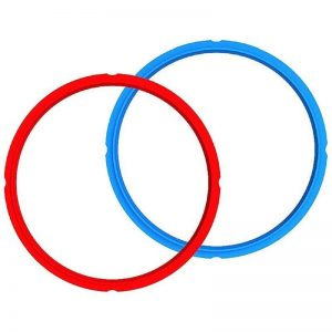 INSTANT POT Replacement Silicone Sealing Ring Set of 2 (5.7L Red/Blue)