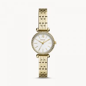 FOSSIL Tillie Mini Three-Hand Gold-Tone Stainless Steel Watch – BQ3503