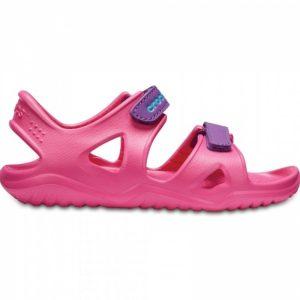 CROCS Kids Swiftwater River Sandal Paradise Pink/Amethyst Size UK J3