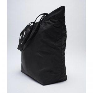 ZARA Reversible Nylon Tote Bag Black