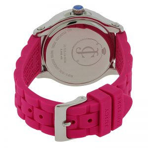 JUICY COUTURE Pedigree Stainless Steel Pink Silicone Watch