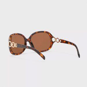 DOROTHY PERKINS Brown Metal Circle Arm Sunglasses 11407416