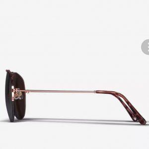 DOROTHY PERKINS Rose Gold Rimless Aviator Sunglasses 11408221
