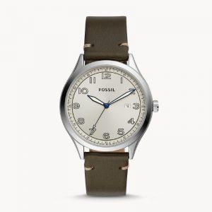 FOSSIL Wylie Three-Hand Grey Leather Watch BQ2488- Grey