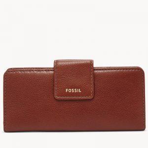 FOSSIL Madison Slim Clutch Brown SWL2227210
