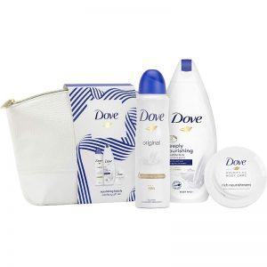 DOVE Nourishing Beauty Wash Bag Gift Set 3 piece