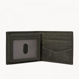 FOSSIL Derrick RFID Bifold with Flip ID Cement Grey ML4153257